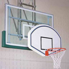 Gared basketball backboard